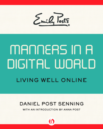 cover image of Manners in a digitale world showing title in digital font on a teal banner