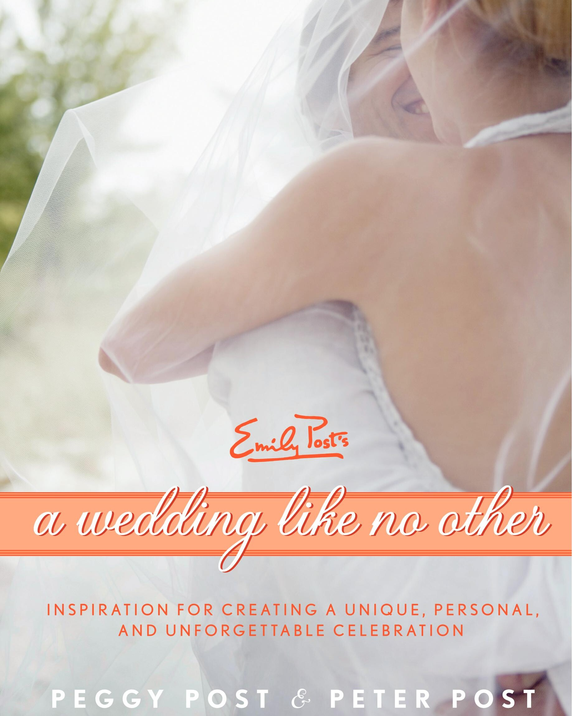 cover image of A Wedding Like No Other showing title on a ribbon over image of smiling couple kissing under a vail