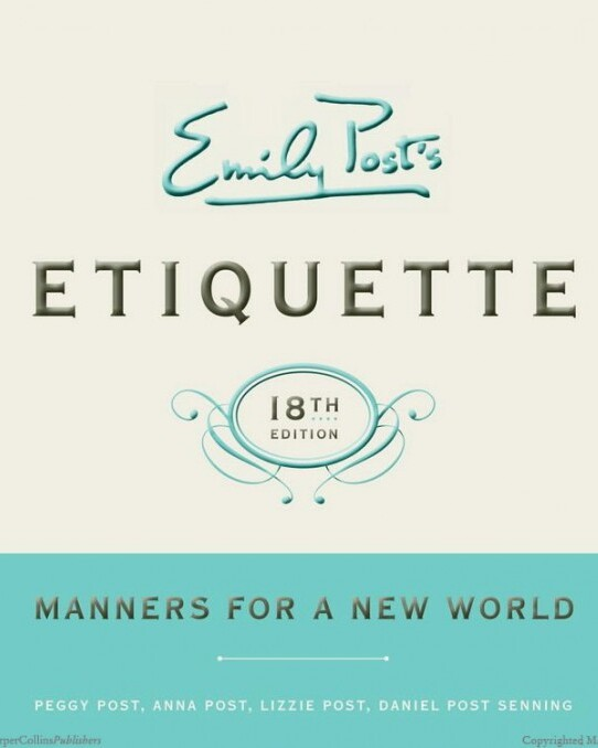 Emily Post Etiquette, 19th Edition Book