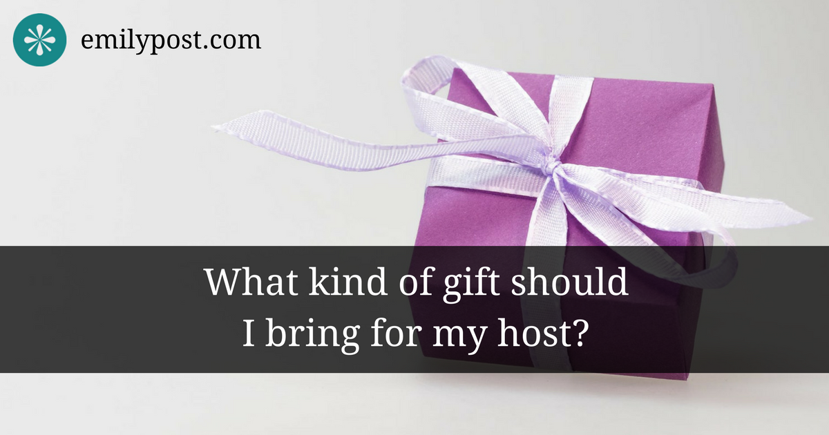 Graphic: What kind of gift should I bring for my host?