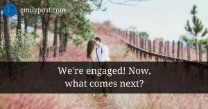 graphic: We're engaged! Now, what comes next?